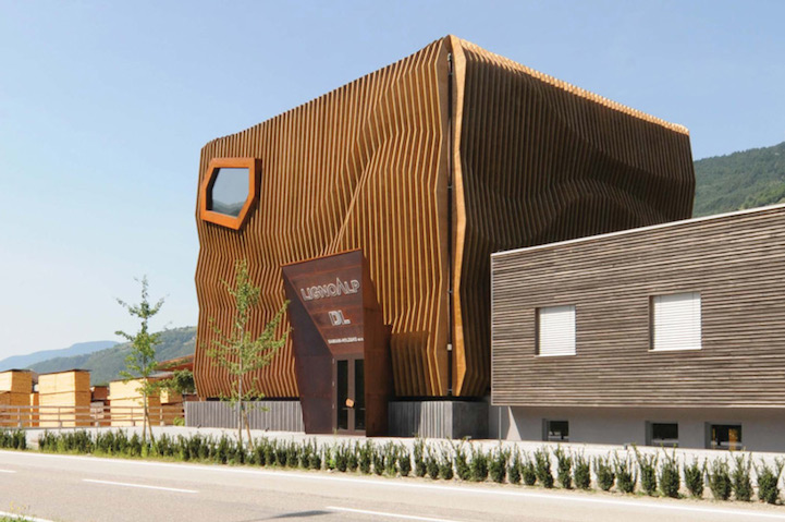 Stunning Wood Facade Appears As Rippling Waves On An
