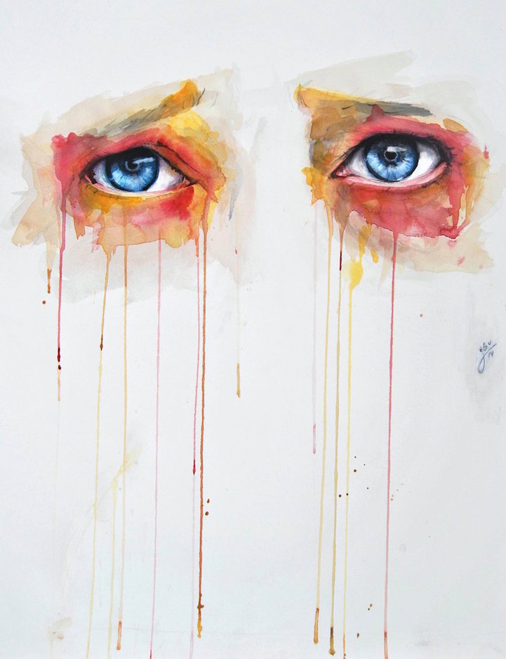 Alluring Watercolor Paintings Prove that Eyes are Windows ...  Alluring Waterc...
