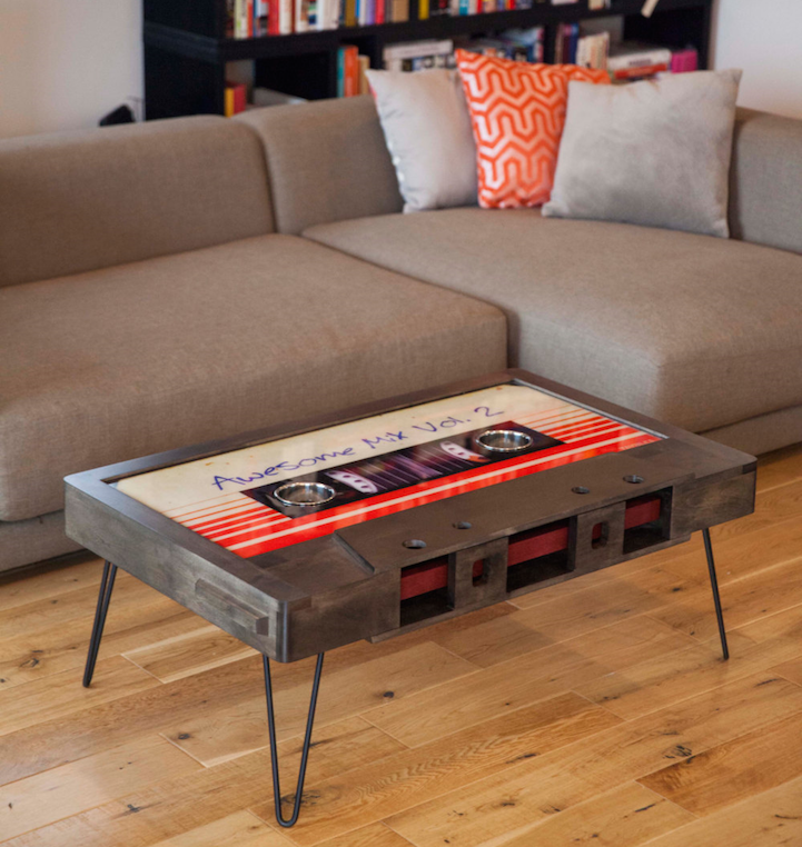 Quirky cassette tape coffee tables add a touch of for Coffee tables quirky