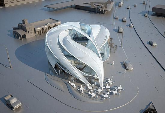 Modern Architecture Futuristic Sci Fi Building In LA