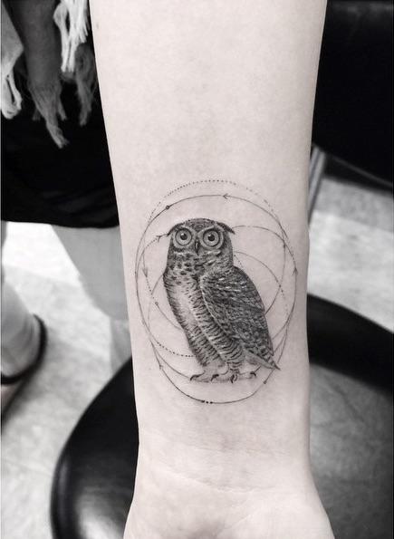 Famous Line Tattoo Artist : Geometric fine line tattoos by la s famous dr woo