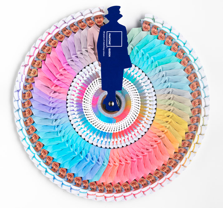Pantone Color Wheel Celebrates the Queen\'s Diamond Jubilee