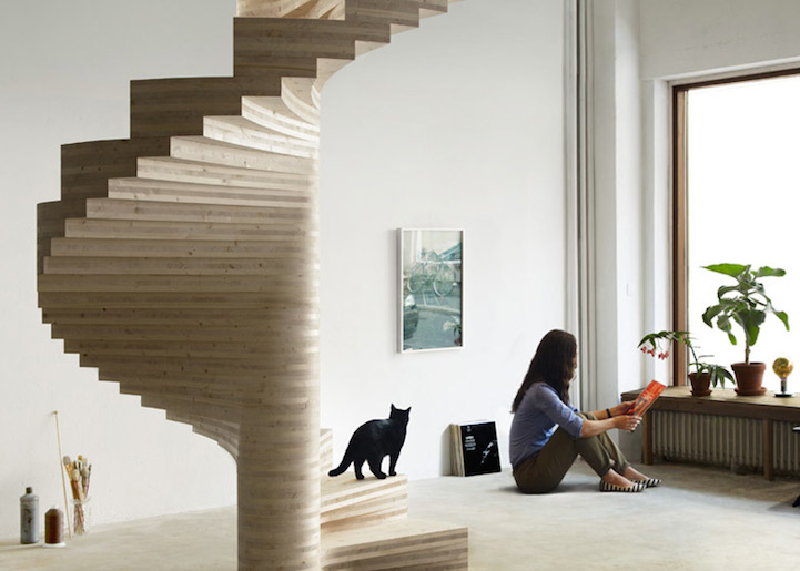 Weu0027ve Marveled Over A Number Of Beautiful Staircases Recently, And The Risa  By Norwegian Architect Tron Meyer Is No Different. The Modern Spiral  Staircase ...