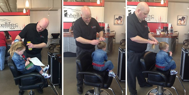 Single Dad Went To Beauty School So He Could Learn How To Style His