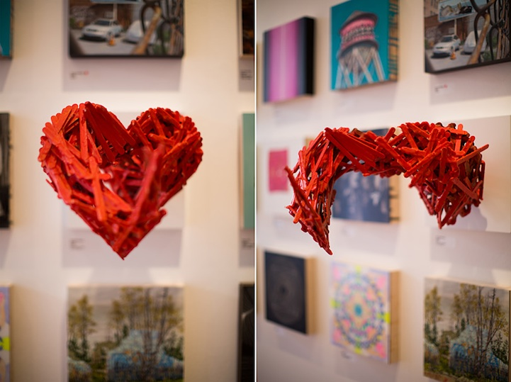 Stunning 3d popsicle stick portrait and anamorphic heart for How to get a job at michaels craft store