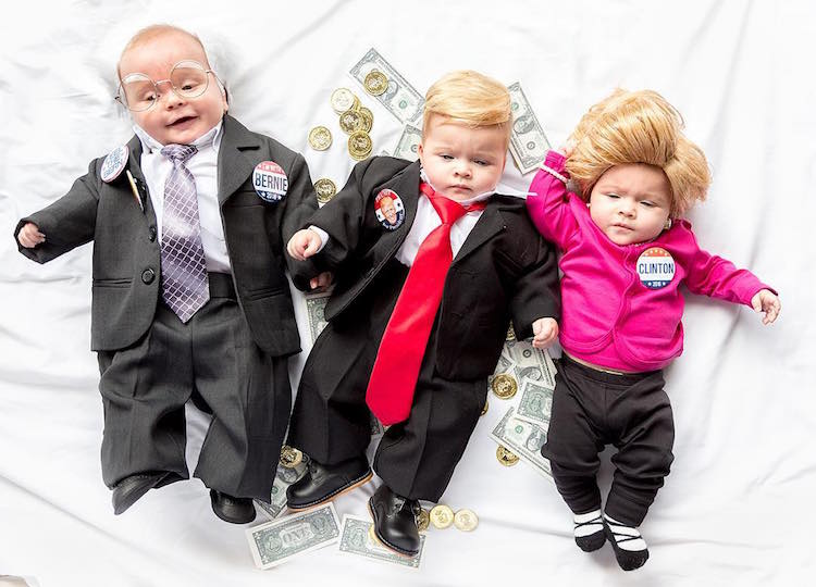 new parents dress up their triplets in adorably hilarious diy halloween costumes