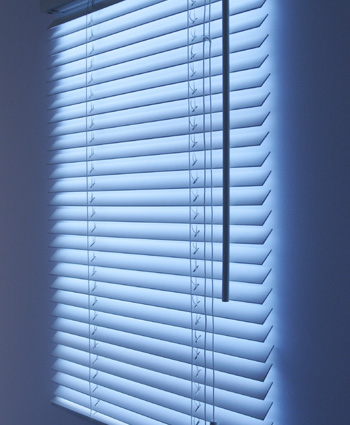 Fake Window Blinds Create Optical Illusion