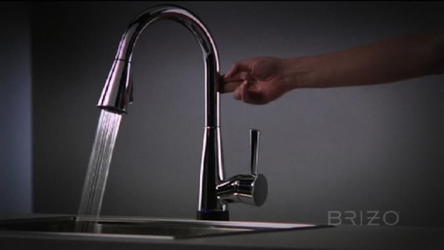 pull down faucet images kitchen standard touchless free american beale hands