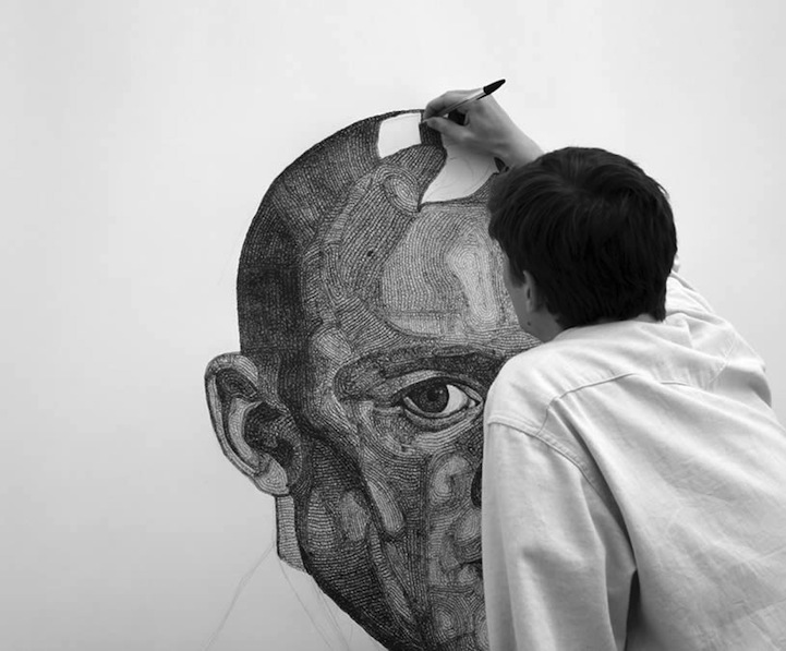 Scribble Pen Drawing : Expressive ballpoint pen drawing by vince low malaysia