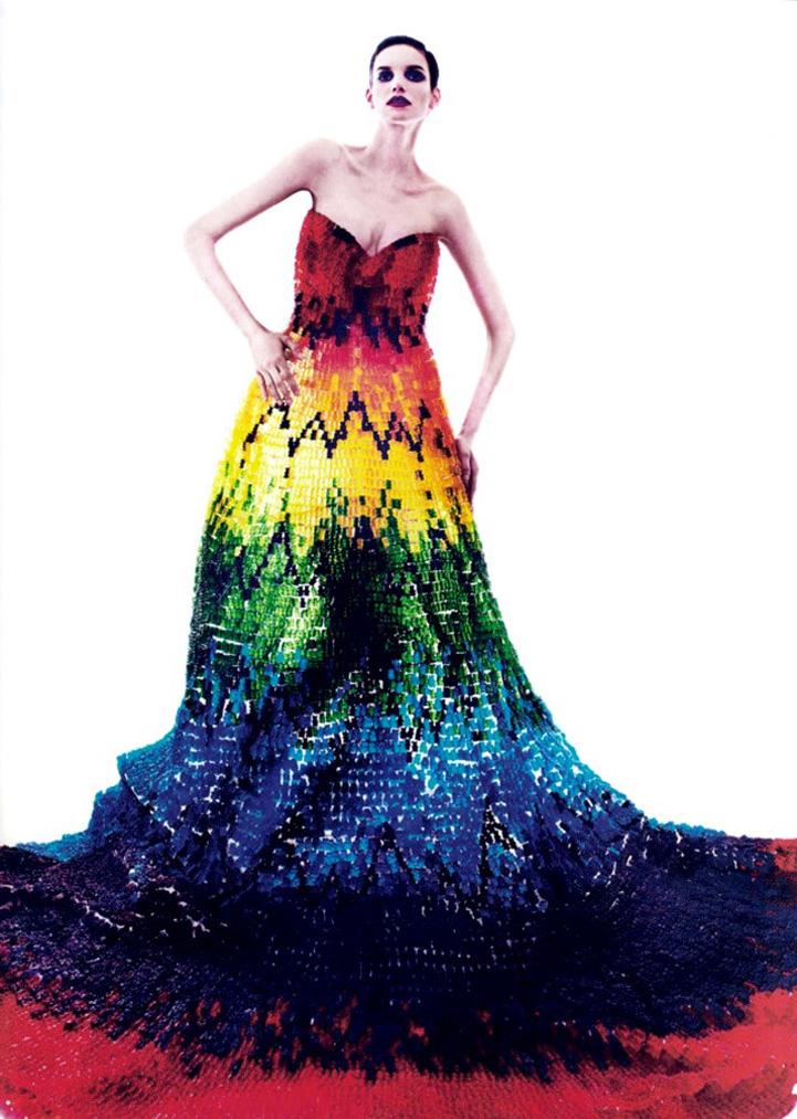 Alexander McQueen-Inspired Dress Made of 50,000 Gummy Bears
