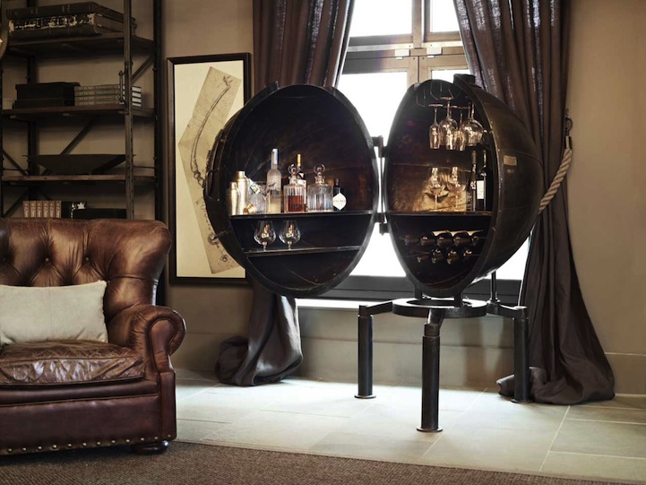 1920s lightbulb voltage tester transforms into personal bar. Black Bedroom Furniture Sets. Home Design Ideas