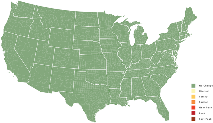 Interactive US Map Predicts the Changing Colors of Leaves By Date ...