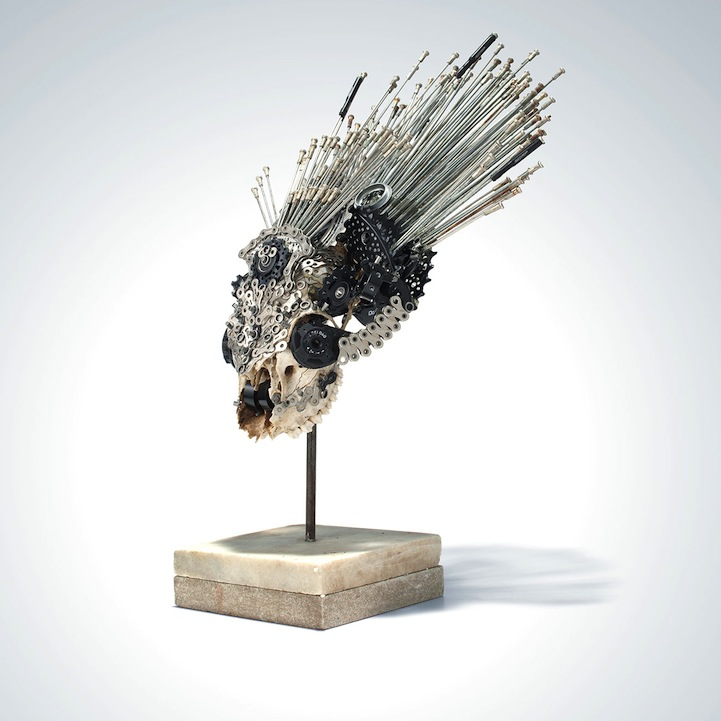 Incredible Sculptures Made Of Bicycle Parts
