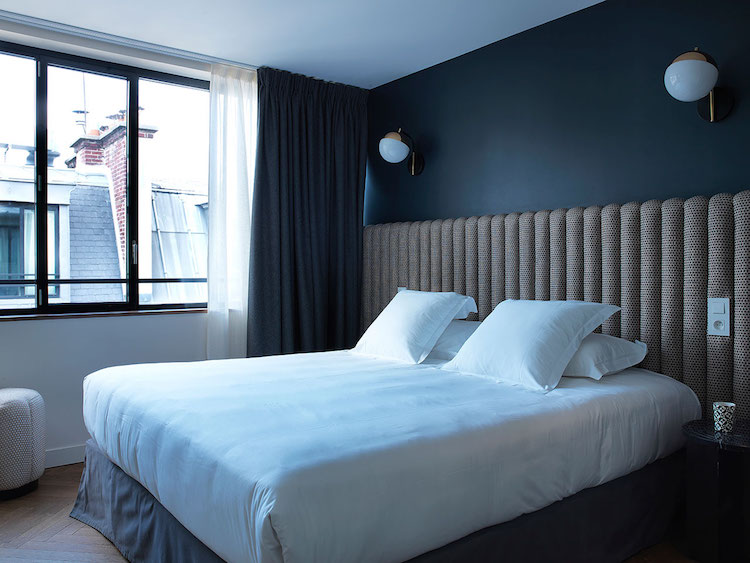 Simple and Minimalistic Style Within Guest Bedroom Of Paris Hotel