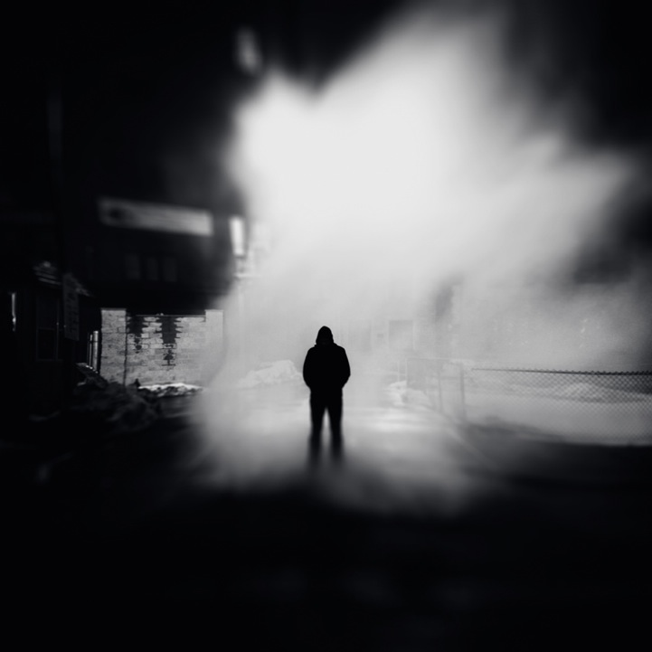 Mysterious Silhouettes Along Detroits Dark City Streets