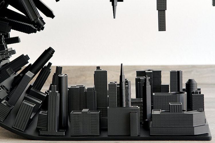 gravity-defying 'inception' coffee table suspends a city skyline