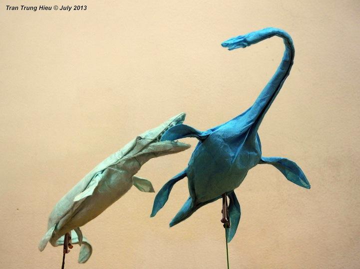 Realistic Origami Dinosaurs Look Just Like Museum Models