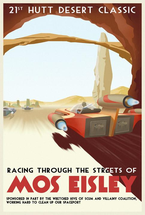 8 vintage star wars travel posters