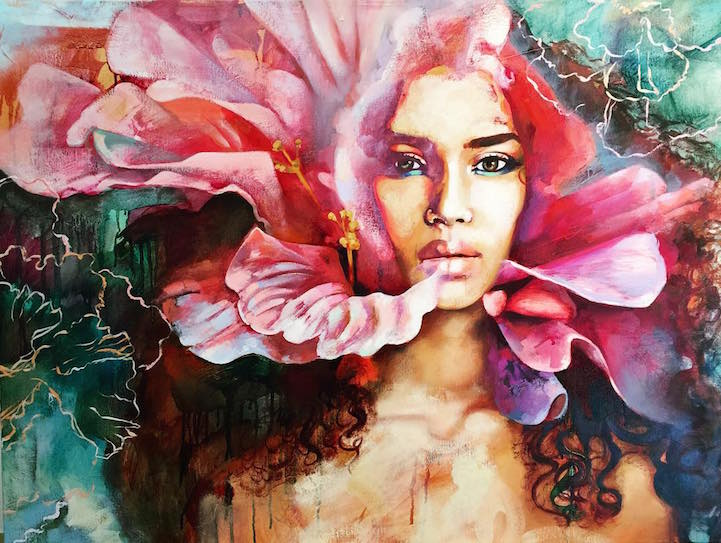 Interview 16 year old artist dimitra milan paints her for Surreal salon 8