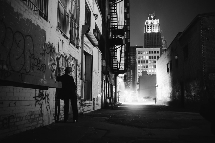 Mysterious Silhouettes Along Detroit S Dark City Streets