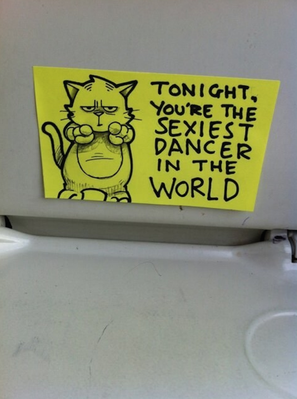 Hilarious Postit Notes Left On The Train For Motivation And Cheer - Hilarious motivational cat post notes found train