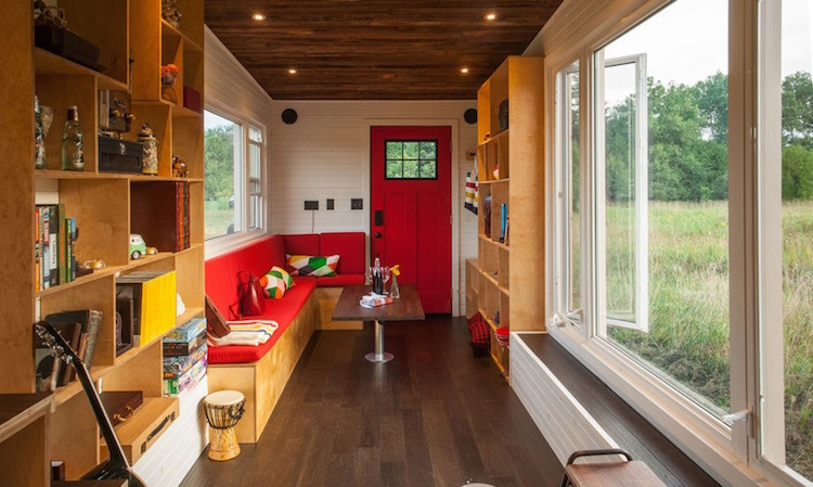 Natural Light Floods Tiny Home