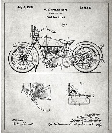 Famous inventions showcased in stylish vintage blueprints oliver gal artist co website via beautiful life malvernweather Image collections