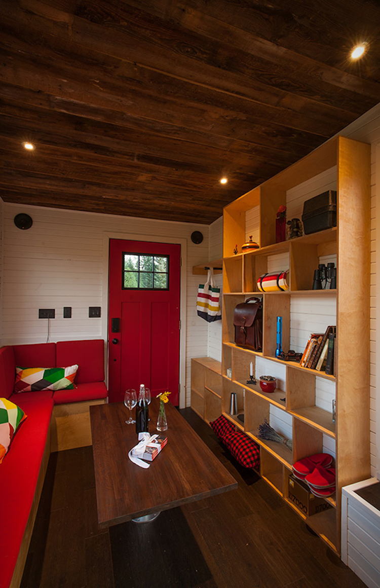 Integrated Storage Units In Tiny Home