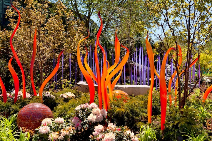 Dale Chihuly S Vibrant Glass Sculpture Garden