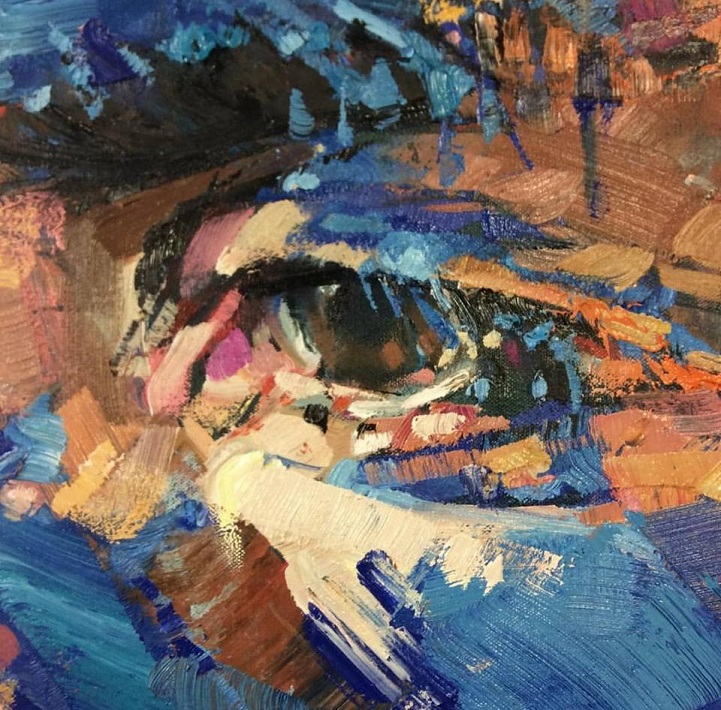 Andrew Salgado S Intense Eye Paintings Extract Order From