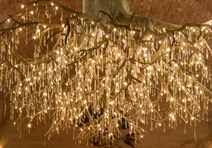 Magnificent chandelier shaped like an upside down tree mozeypictures Gallery