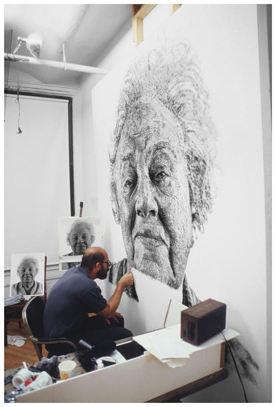 Chuck Close S Unbelievable Fingerpainting Portrait