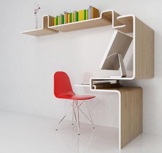 modern design: the coolest space saving desk