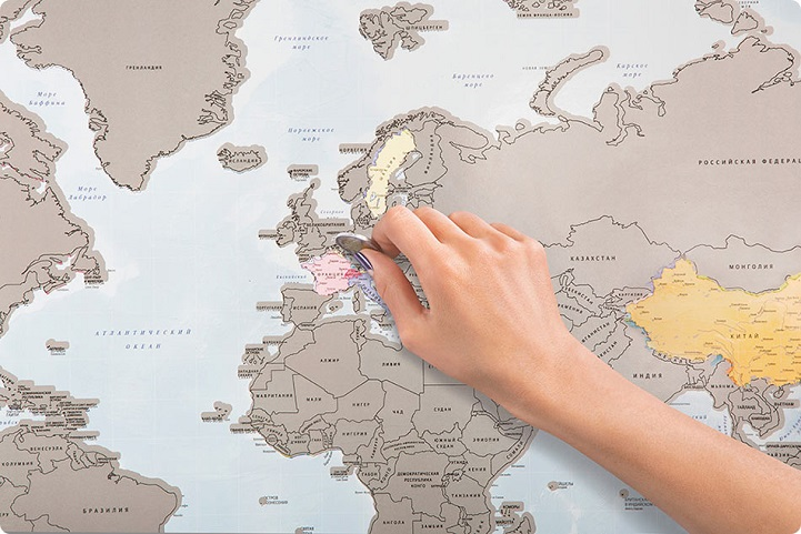 ScratchOff World Map Is A Unique Way To Document Your Travels - World map track your travels