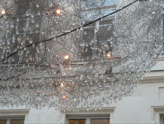 Chandelier Trees That Sparkle In the Night By Landscape Artist – Art Chandelier