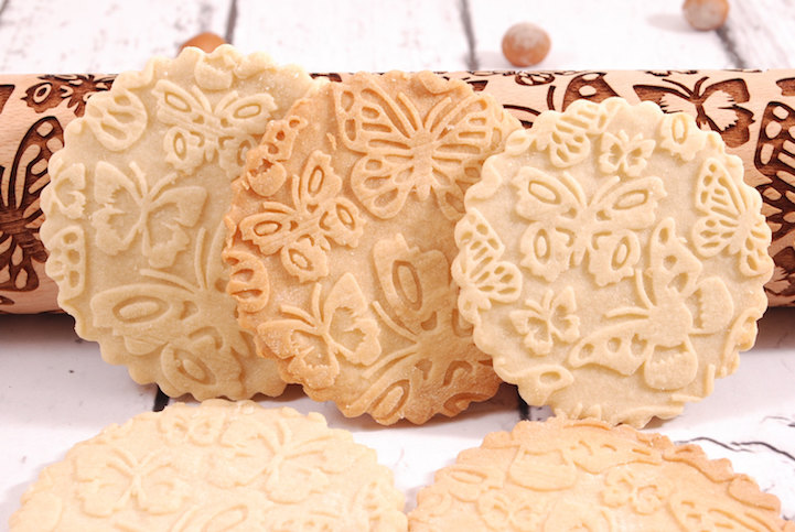 Laser Embossed Rolling Pins Imprint Playful Patterns Into