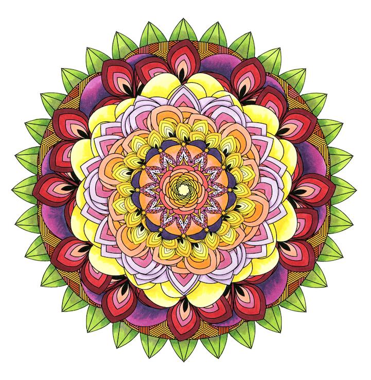 Coloring Flower Mandalas A Garden Inspired Coloring Book
