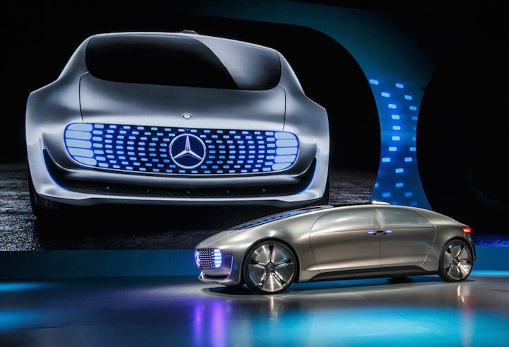 mercedes-benz unveils self-driving luxury vehicle concept at ces 2015