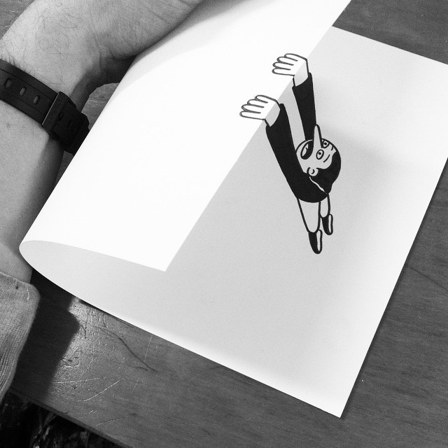 Simple Paper Folds Create Fantastic Illusions of Drawings Brought ...