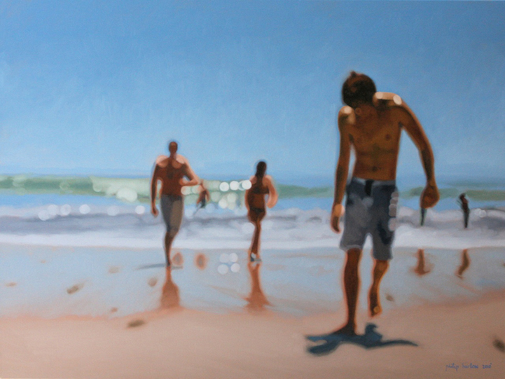 Emotive oil paintings of nostalgic beach scenes in beautiful bokeh you can also see the way barlow uses his unique approach to portray an entirely different sort of environment the city voltagebd Images