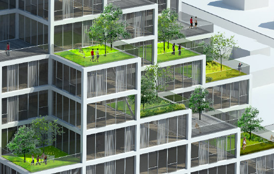 I Love Modern Architecture - Sky VIllage: Copenhagen, Denmark