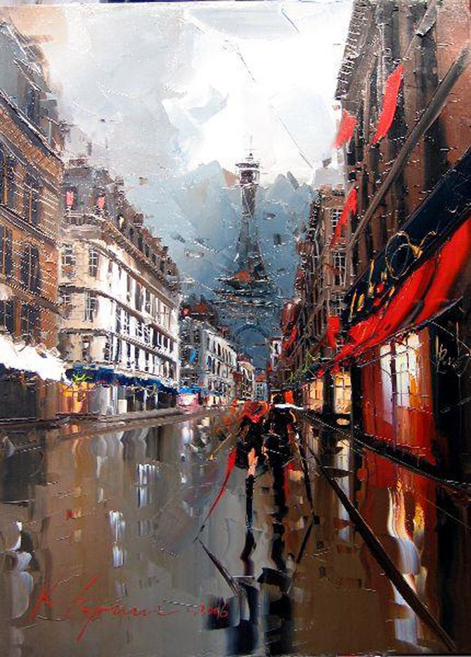 Beautiful Palette Knife Cityscapes - photo#11