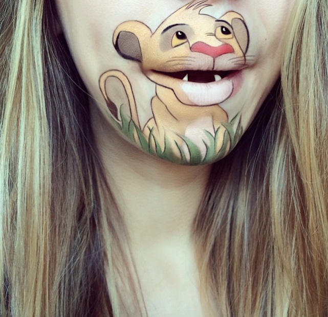 simba laura jenkinson lip art cartoon character makeup mouth lipstick