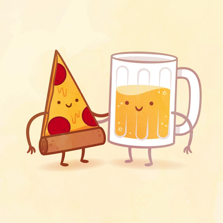 Whimsical Illustrations Of Delicious Food Pairings As Best Friends