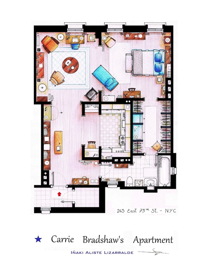 Detailed floor plan drawings of popular tv and film homes malvernweather Images