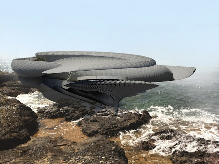 Futuristic House Design Concept Harnesses Energy From Ocean
