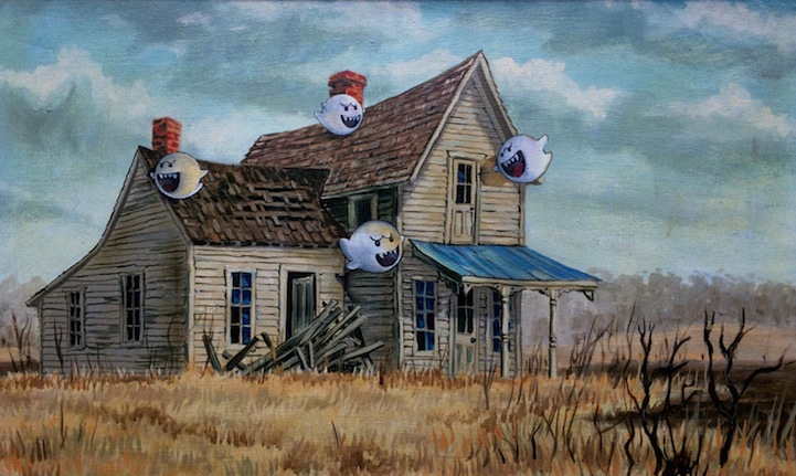 More Hilarious Thrift Store Paintings Altered To Give