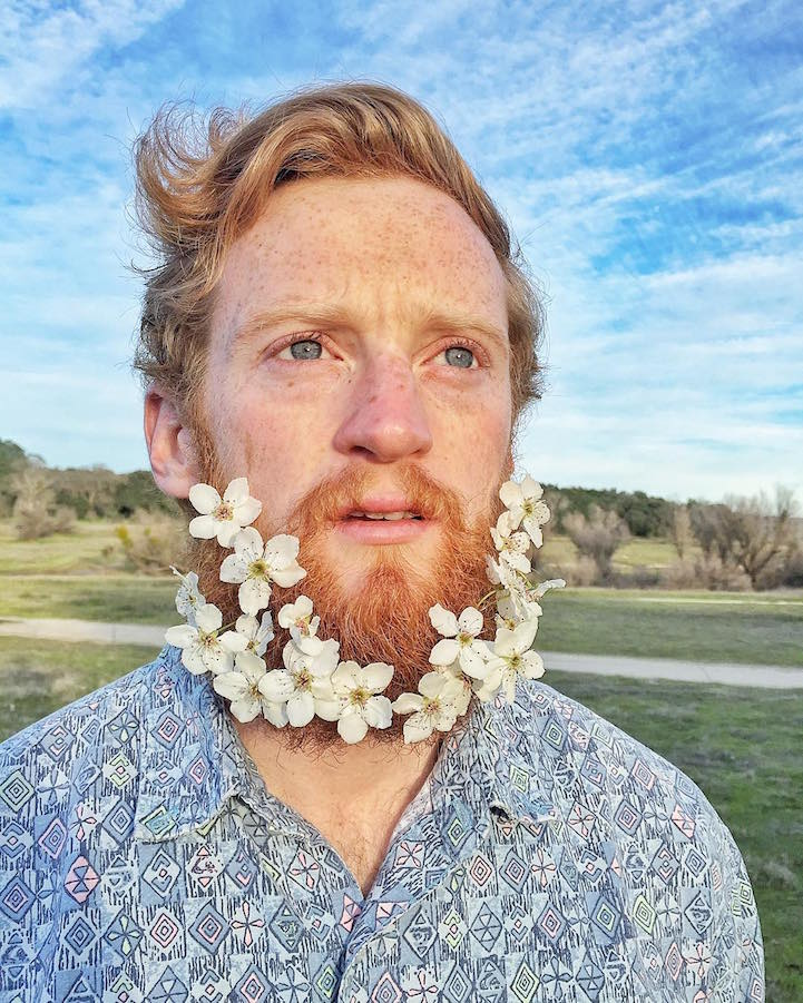 Flower Beard Men