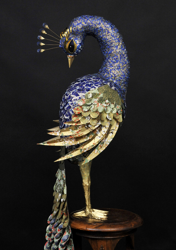 Incredibly Ornate Paper Bird Sculptures