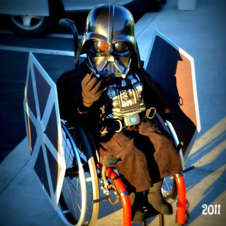Dad Transforms Son's Wheelchair Into Star Wars Inspired Halloween Costume